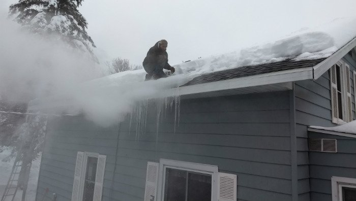 Ice Dam Removal by Steaming